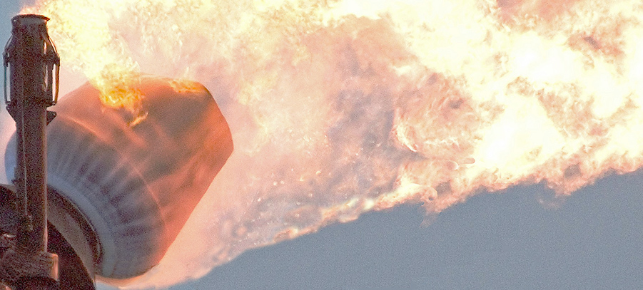coanda flare (627000 nm3 per hr)