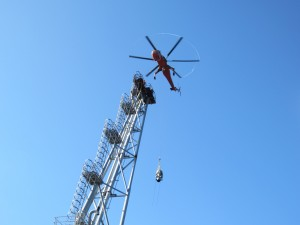 New flare being lowered into place