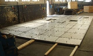 A recently manufactured Flare Deck Radiation Shield at our fabricators